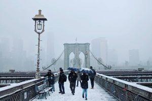 Premiers flocons de neige de la saison à New York !