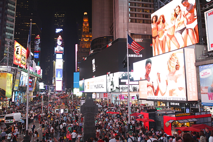 times square new york nuit