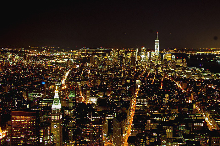 vue empire state building nuit