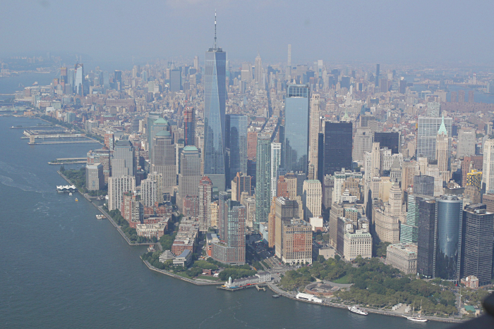 helicoptere survol new york manhattan