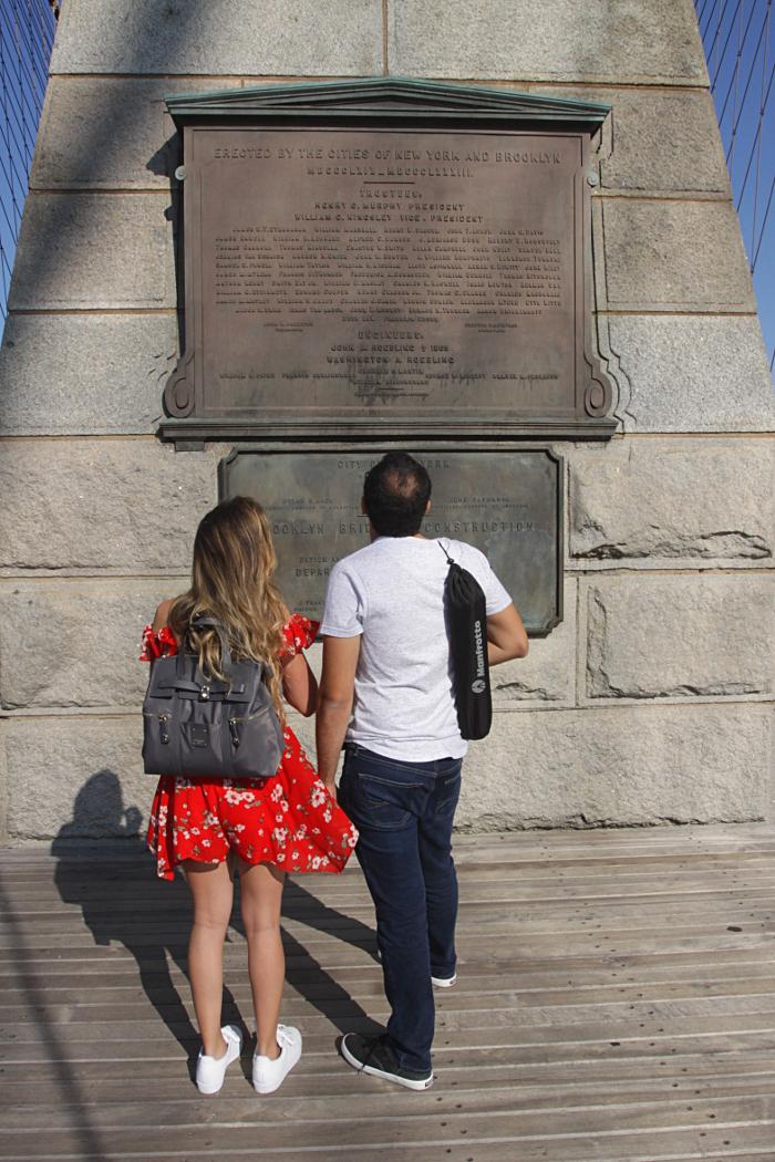 pont brooklyn plaque