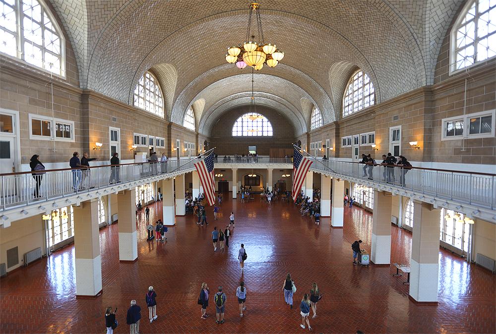 Ellis Island New York hall