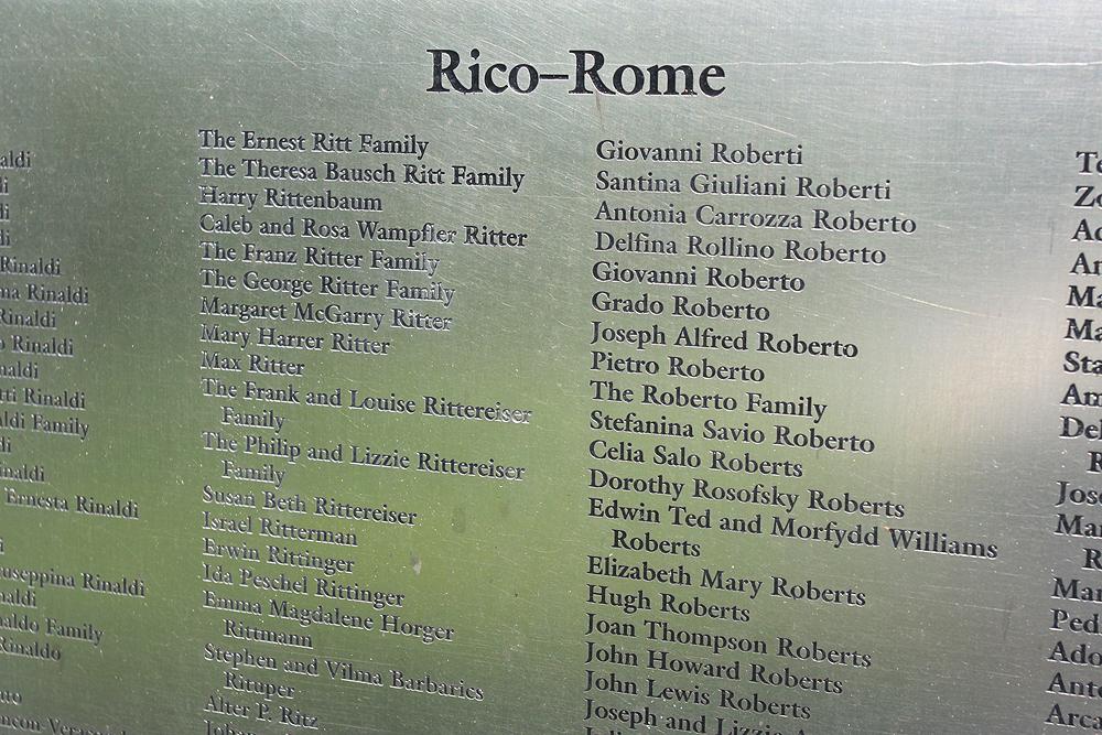 Ellis Island noms memorial