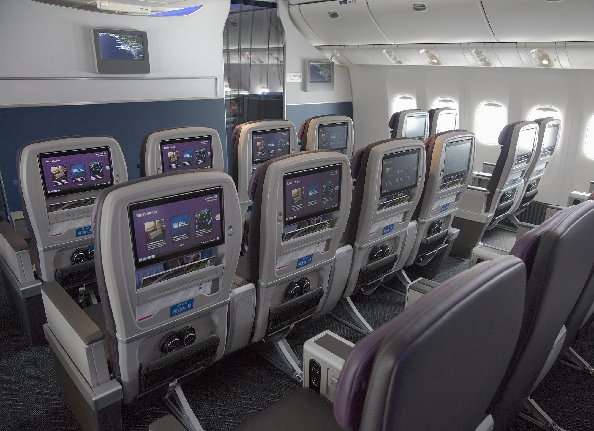 United Airlines classe economique