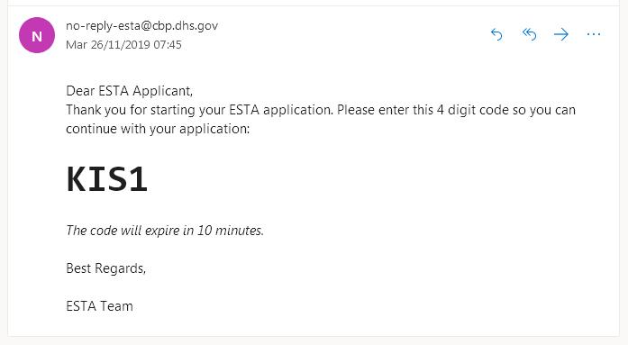 code esta email