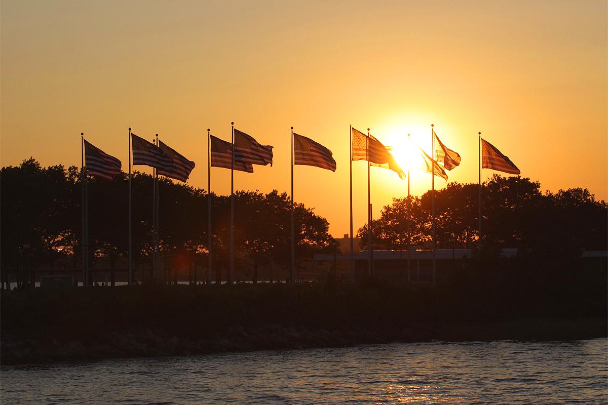 coucher soleil new york