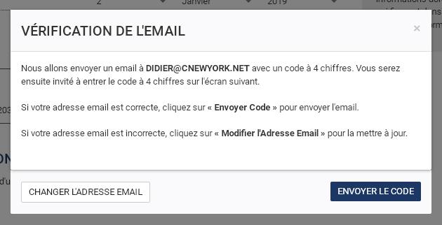 verification code e-mail esta