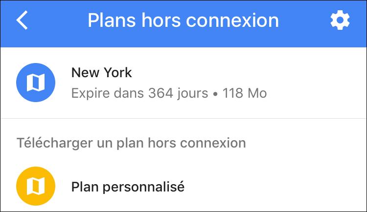 plan hors connexion new york