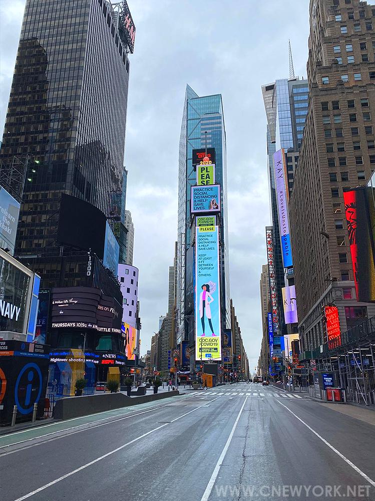 Times Square Coronavirus New York NY USA