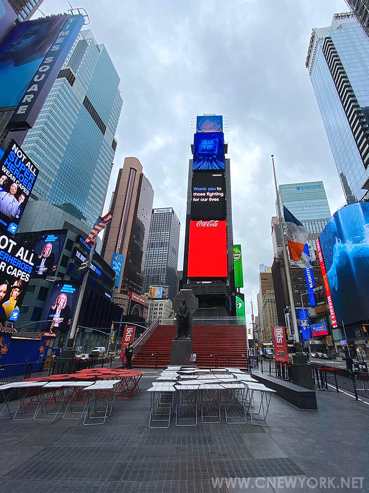 Times Square Coronavirus New York NY