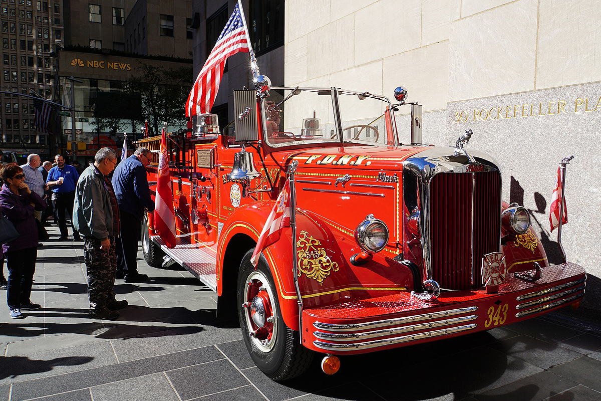 ancien camion pompiers new york