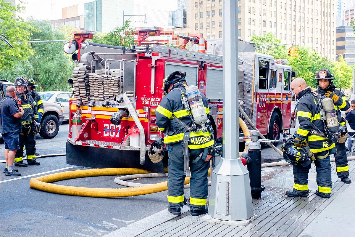 pompiers new york intervention