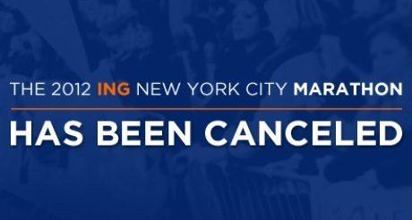 Le marathon de New York 2012 n'aura pas lieu