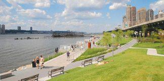 Le Riverside Park longe l'Hudson Rive