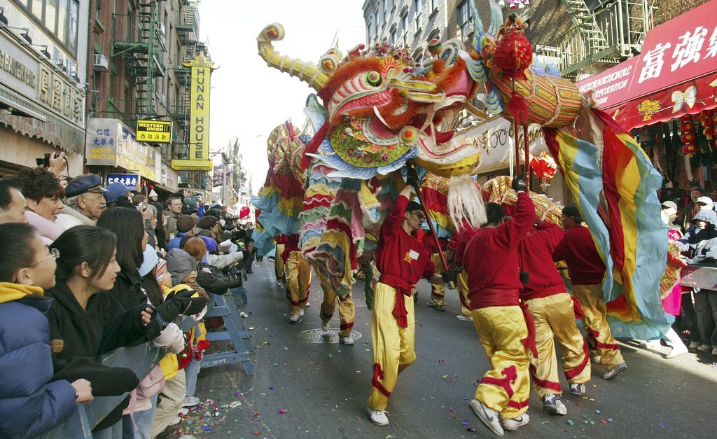 Danse du dragon dans Chinatown
