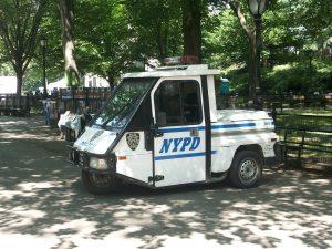 Un scooter à 3 roues du NYPD (Photo Kevin B.)