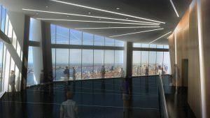Vue d'artiste de l'observatoire du One World Trade Center.