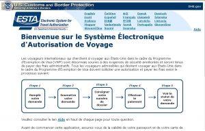 La page d'accueil officielle en français.