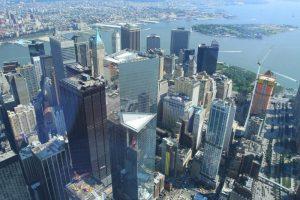 La vue sur le Downtown depuis le One World Observatory. (Photo Didier Forray)