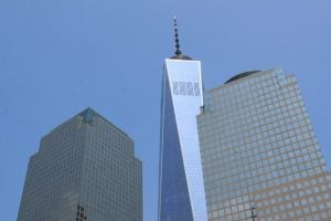 Au pied du World Trade Center. (Photo Didier Forray)