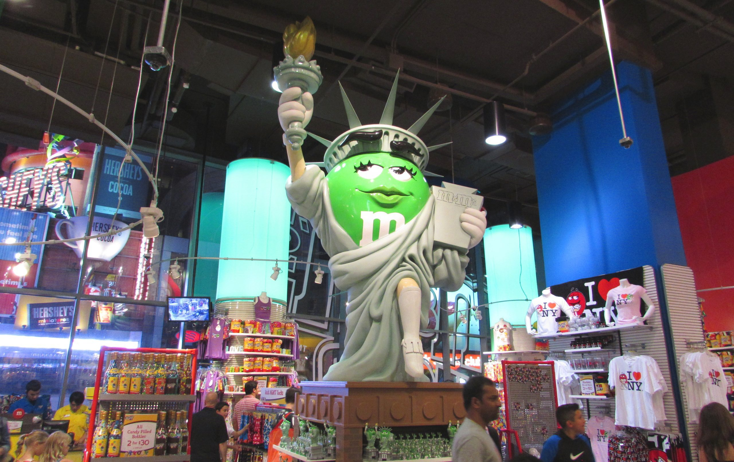 Statue de la Liberté M&M's