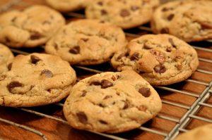 Cookies sortant du four.