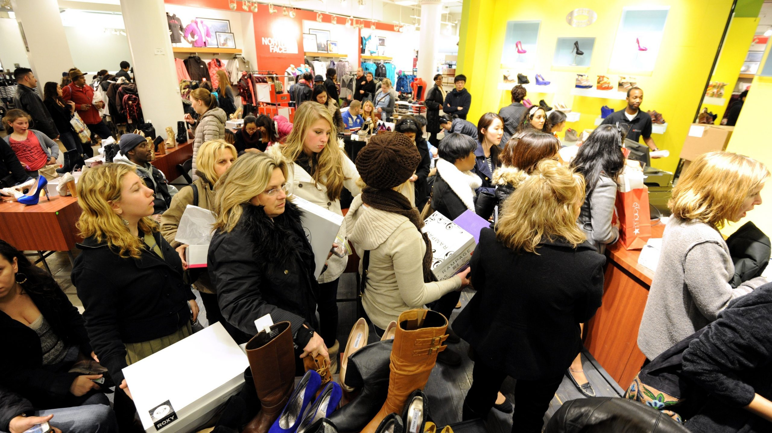 La folie du shopping s'empare de New York