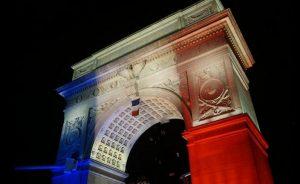 L'arche aux couleurs françaises. (Photo Mission de la France à l'ONU)