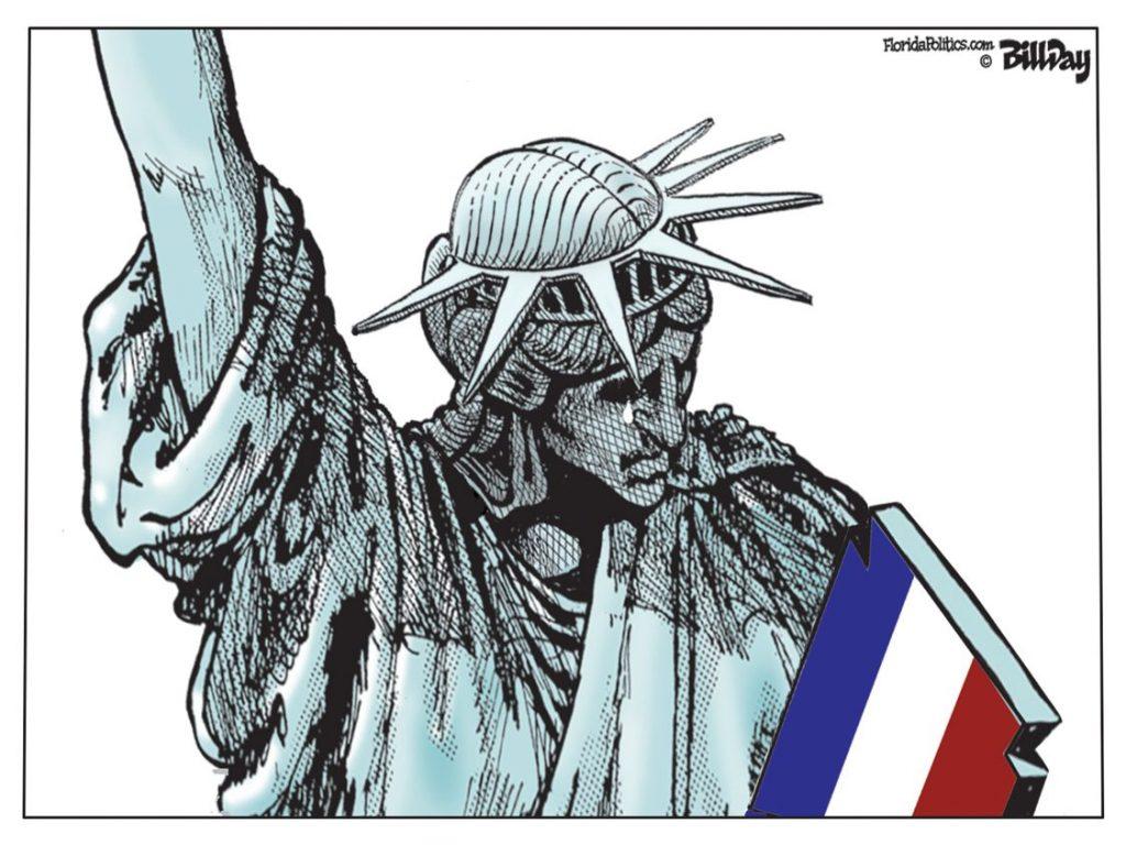 Les larmes de la statue de la Liberté