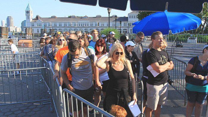 file attente queue new york