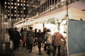 Les stands le long de la 34th Street.