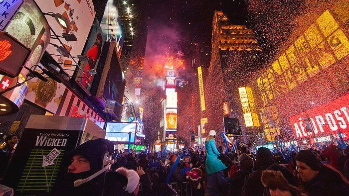 times square nouvel an new york