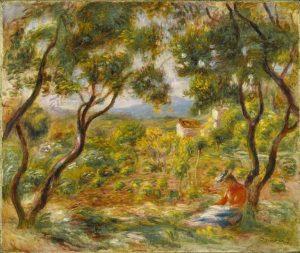 """""""Les vignes à Cagnes"""" par Pierre-Auguste Renoir. (Photo Brooklyn Museum)"""