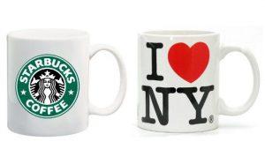 Mugs Starbucks et I Love New York