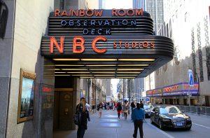 Entrée des studios de la NBC à New York.
