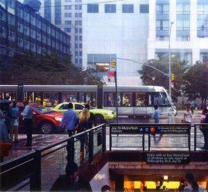 Un tramway et un taxi jaune... (Photo DR)