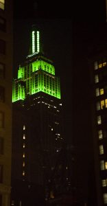Empire State building Saint Patrick