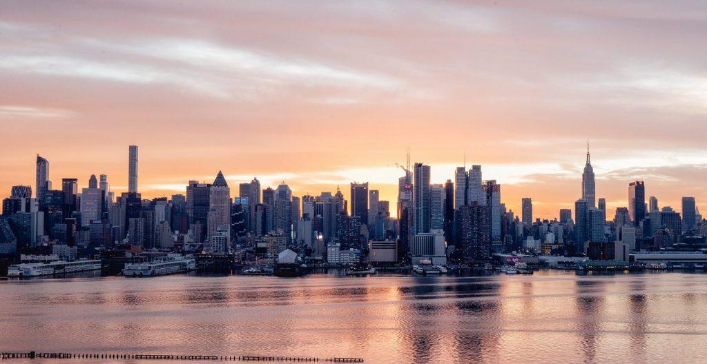Lever de soleil sur Manhattan