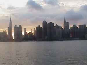 Départ de Midtown au coucher du soleil.