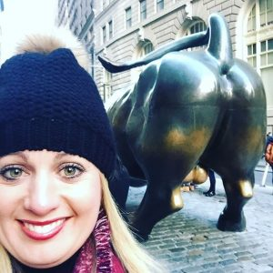 selfie taureau wall street new york