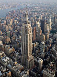 L'Empire State building vu du ciel