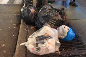 poubelles à New York