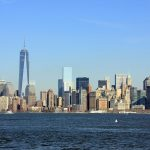 La skyline de Manhattan, dominée par la tour One World Trade Cente