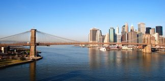 Vue sur New York depuis le Manhattan Bridge