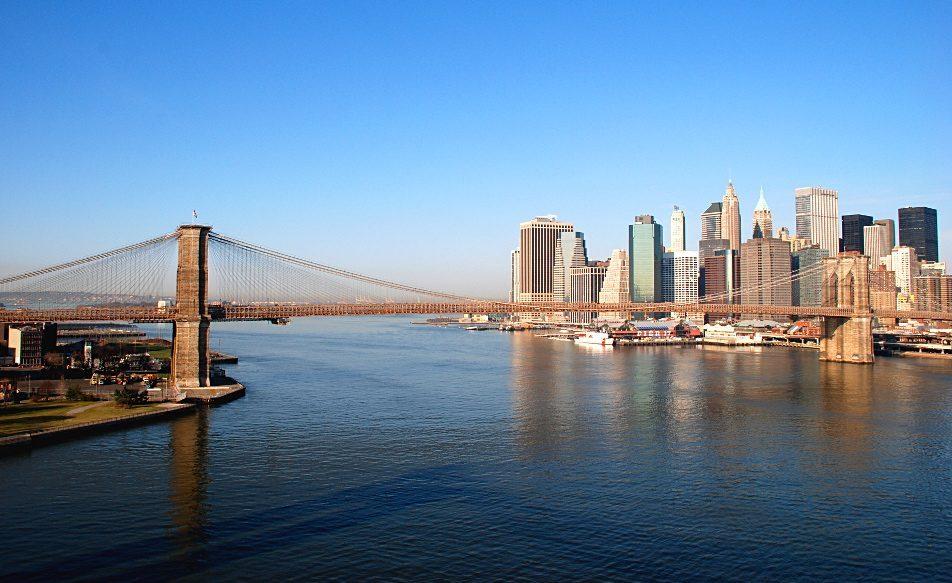 Vue sur New York depuis le Manhattan Bridge