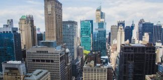 Vue sur les buildings de New York.