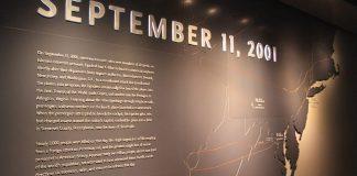 L'entrée de l'exposition au musée du 11 septembre