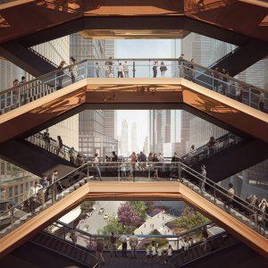 Une structure constituée d'escaliers
