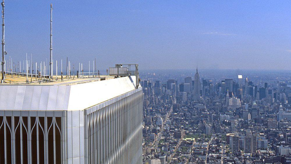 La vue depuis la tour n°2 du World Trade Center, avant le 11 septembre 2001.