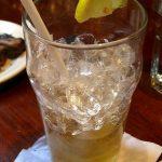 glaçons dans un verre à New York